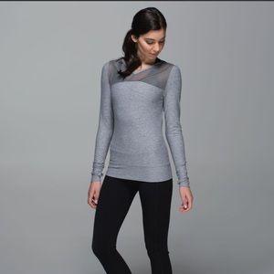Lulu 🍋 just breathe long sleeve mesh top